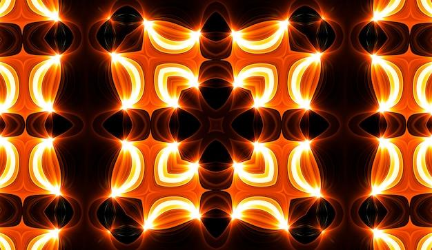 Warmes gelbes kaleidoskop. herbst spirale tie dye print. kaleidoskopische textur. zigeuner kleid. warme farben farbmischung design. warme farben indonesisches stoffdesign. helle hippies wirbeln buntes design