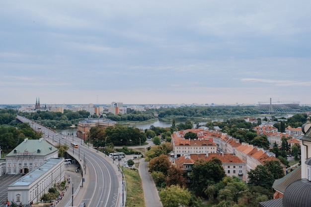 Warschau, polen - 16. august 2019: panoramablick