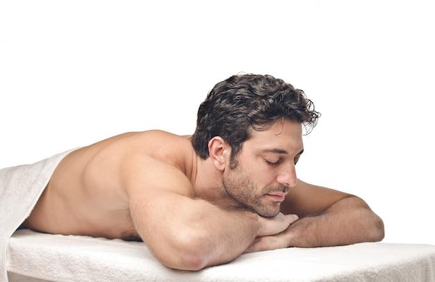 Warten auf eine massage