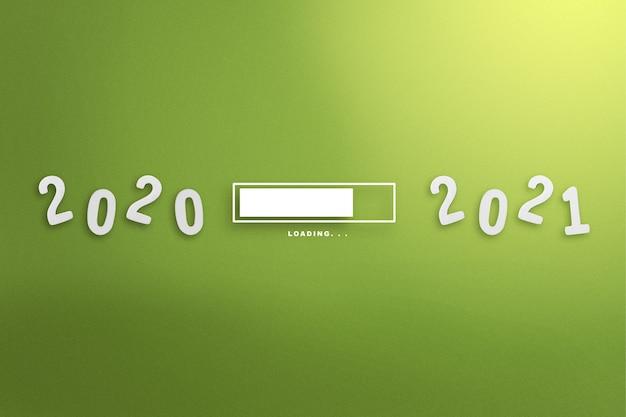 Warten von 2020 bis 2021. frohes neues jahr 2021