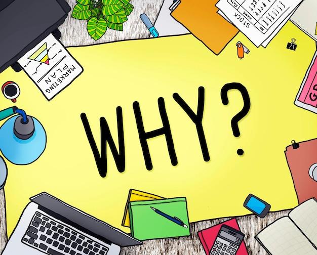 Warum frage grund neugierig konzept verwechseln