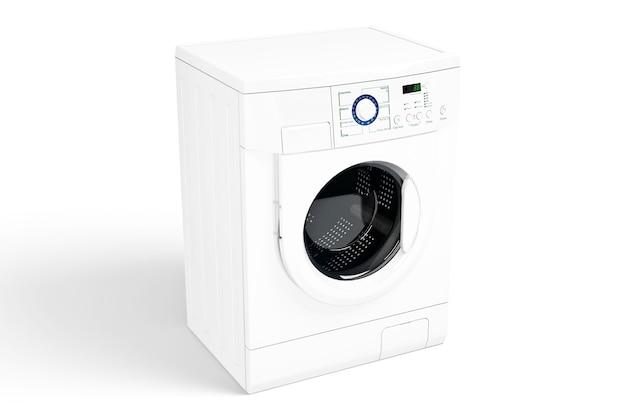 Waschmaschine über weiß isoliert