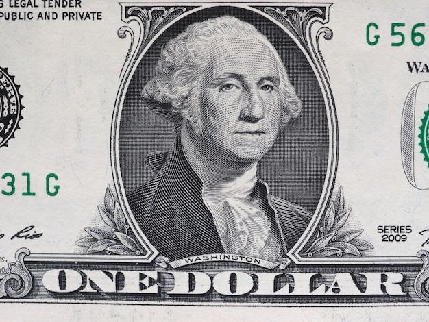 Washington auf 1-dollar-note, vereinigte staaten