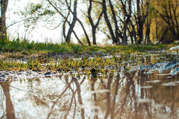 Wasser auf der straße reflektieren