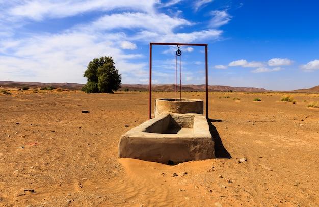 Wasser gut in der sahara-wüste