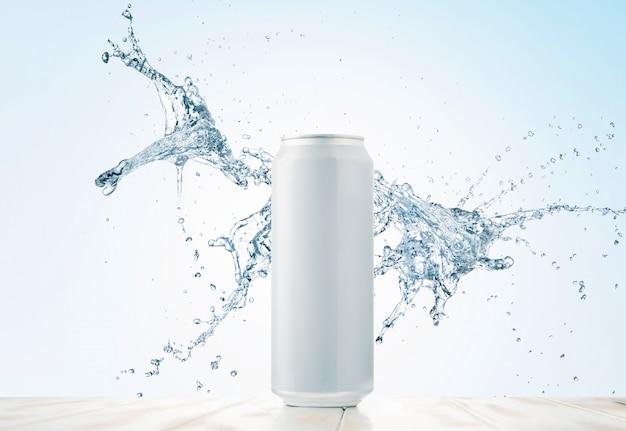 Wasser oder getränk in einer dose