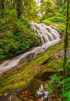 Wasserfall in nationalpark doi inthanon, thailand