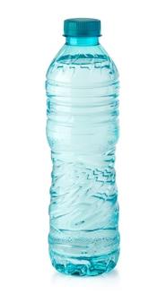 Wasserflasche isoliert auf weiss mit beschneidungspfad
