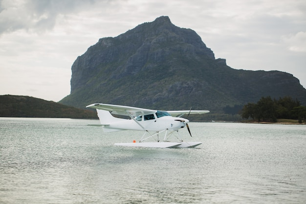 Wasserflugzeug. mauritius