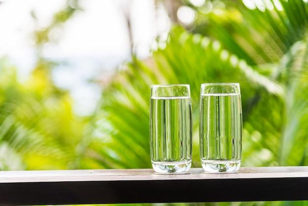Wasserglas im freien
