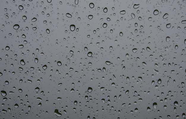Wasserhintergründe mit wasser fällt auf glas
