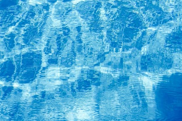 Wasserhintergrundwelligkeit und -fluss mit wellen blaues sommerschwimmbadmuster
