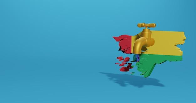 Wasserkrise und trockenzeit in guinea-bissau für infografiken und social-media-inhalte in 3d-rendering