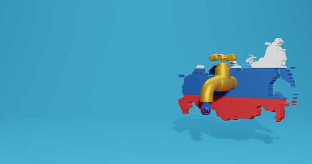 Wasserkrise und trockenzeit in russland für infografiken in 3d-rendering