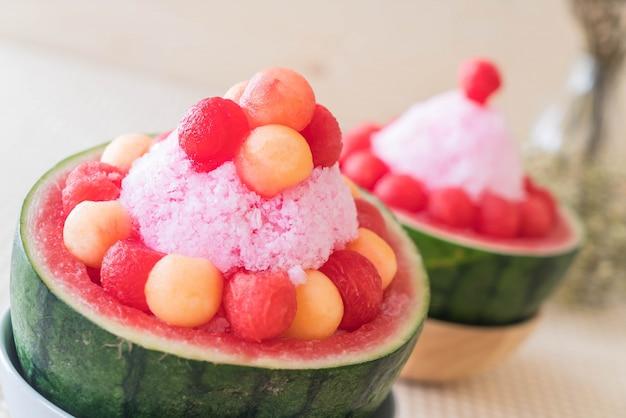 Wassermelone bingsu dessert