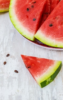 Wassermelone. essen. selektiver fokus