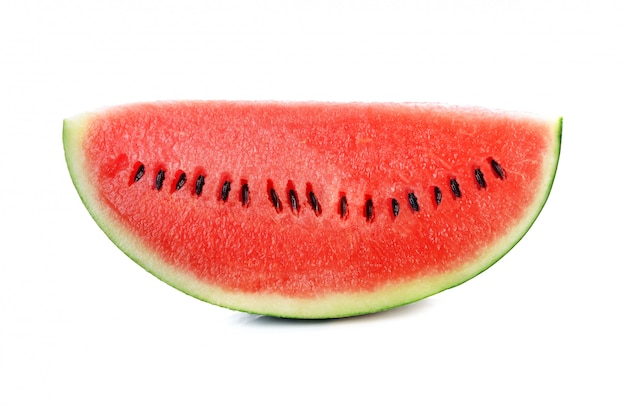 Wassermelone getrennt auf weiß