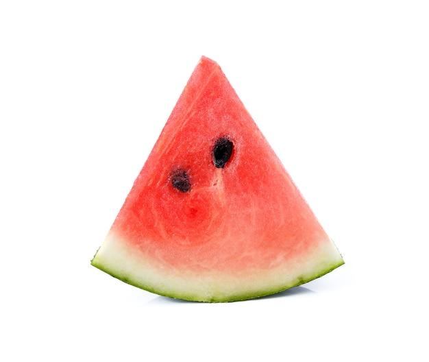Wassermelone getrennt auf weißem hintergrund