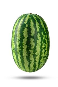 Wassermelone lokalisiert auf weißem hintergrund mit beschneidungspfad.