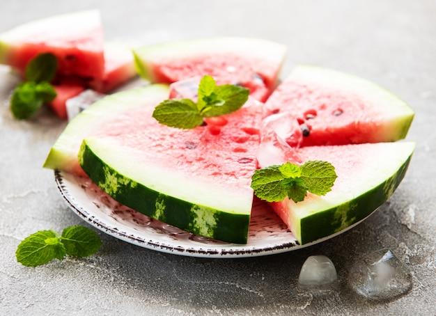 Wassermelone mit eis