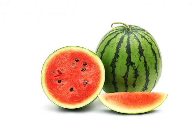 Wassermelone reif und lecker isoliert