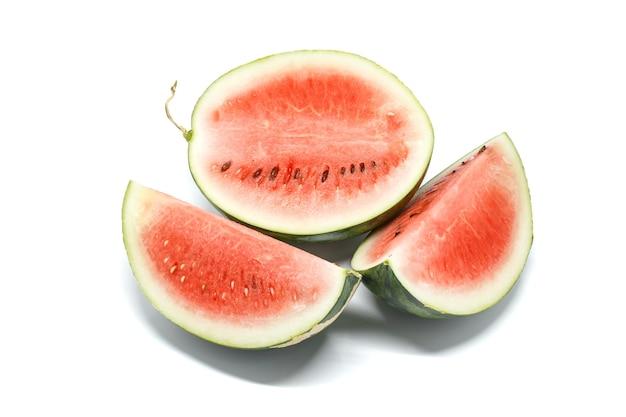 Wassermelone weißer hintergrund