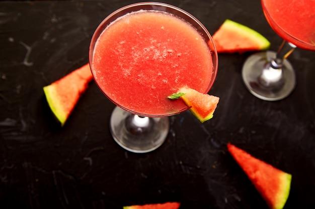 Wassermelonen-margarita-cocktails