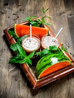 Wassermelonen-minze-smoothie.