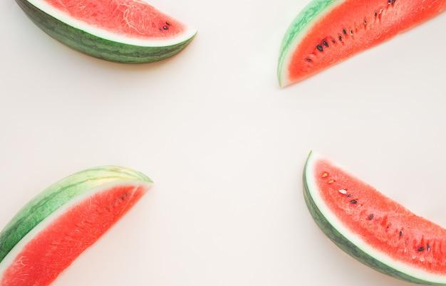 Wassermelonenscheibe als sommerfruchtkonzeptideen