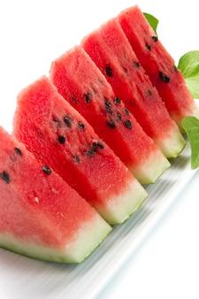 Wassermelonenstücke