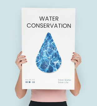 Wasserrecycling-tröpfchen-konzept