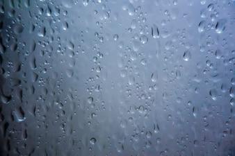 Wassertropfen auf Glas für Hintergrund