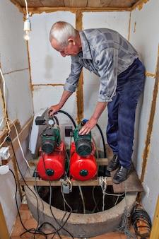 Wasserversorgungssystem des landhauses.