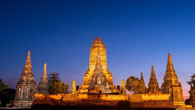 Wat chaiwatthanaram bei phra nakhon si ayutthaya.