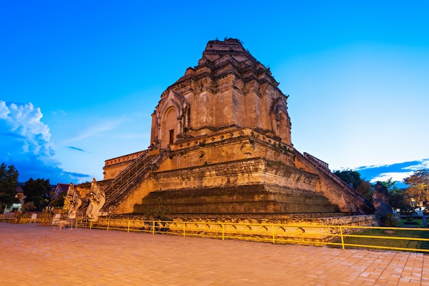 Wat chedi luang temple in chiang mai in thailand