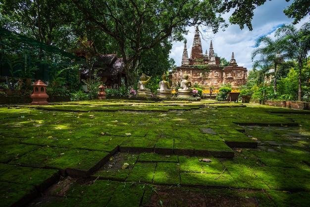 Wat chet yot, sieben pagodentempel es ist eine bedeutende touristenattraktion in chiang mai, thailand