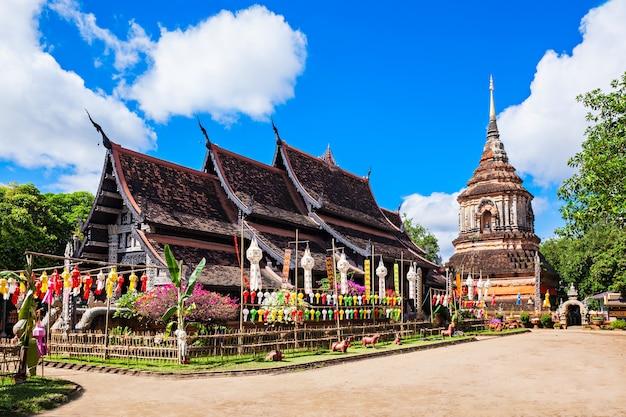 Wat lok molee ist ein buddhistischer tempel in chiang mai, thailand