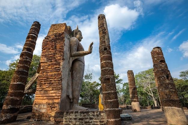 Wat saphan hin, provinz sukhothai, thailand, ein weltkulturerbe außerhalb der mauern der altstadt von sukhothai