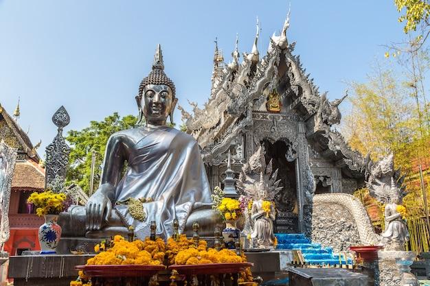 Wat sri suphan bekannt als silbertempel in chiang mai in thailand