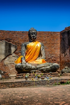 Wat worrachettharam die messung ist ein wichtiger tempel in ayutthaya, thailand.