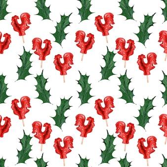 Watercolor backgroundbild weihnachtsferien süßigkeiten