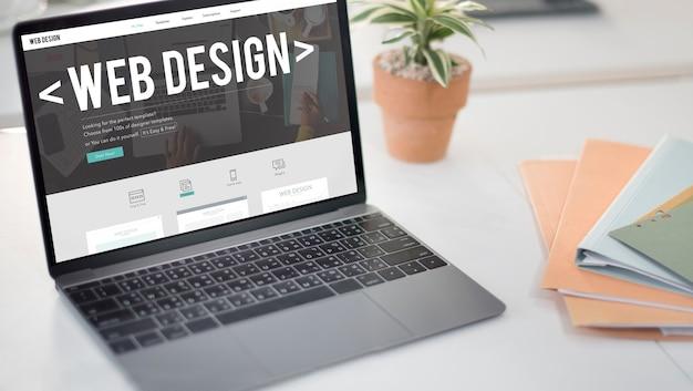 Webdesign internet website responsive software-konzept