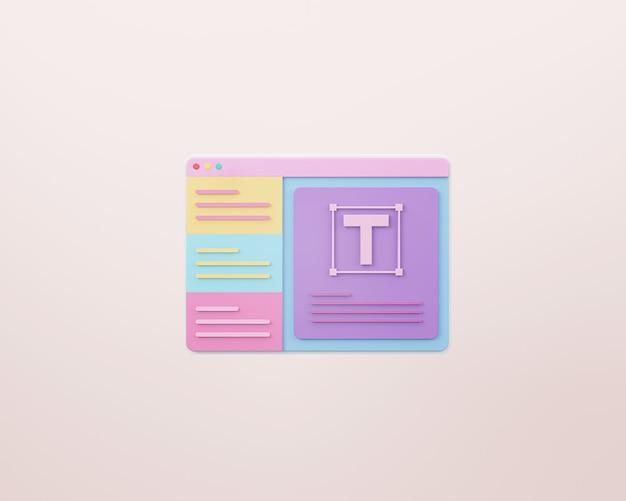 Webdesign und webentwicklungskonzept