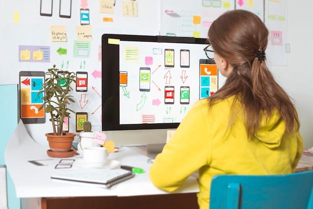Webdesigner, benutzeroberfläche, entwicklung von anwendungen für mobiltelefone