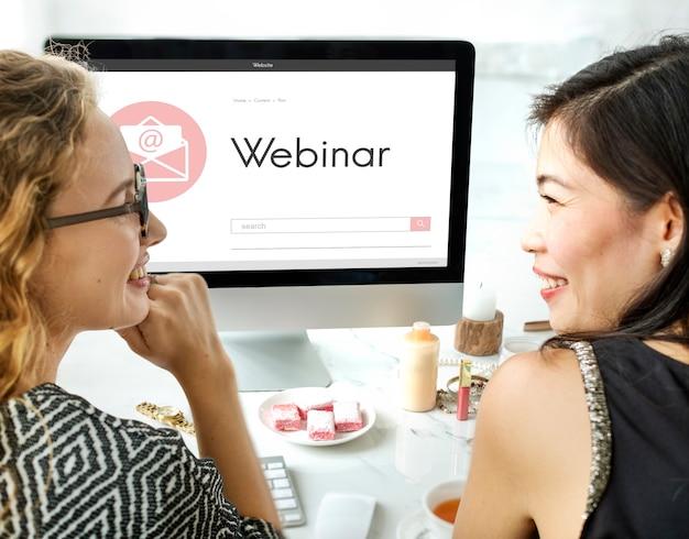Webinar brainstorming webkonferenz-verbindungstechnologiekonzept