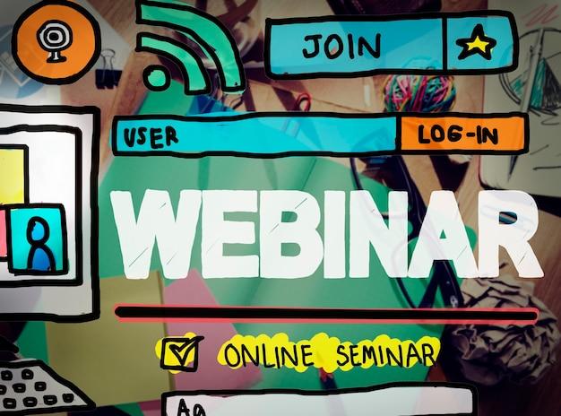 Webinar online-seminar globales kommunikationskonzept