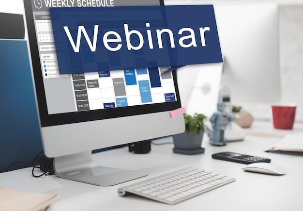 Webinar-website online-internet-networking-konzept