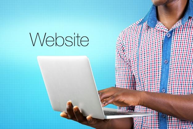 Website im bau konzept