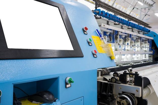 Webstuhl in einer textilfabrik