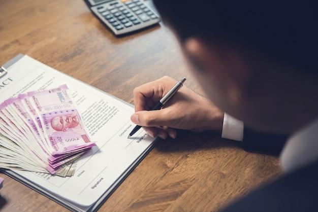 Wechselvereinbarung mit indischen rupien